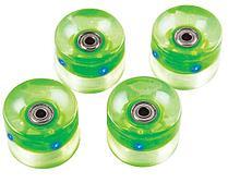 Набор колес для миниборда цвет зеленый с подсветкой (подшипник ABEC-5), AW-18.04