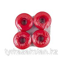 Набор красных полиуретановых колес для скейтборда Atemi 50х30мм 85А, AWS-17.04