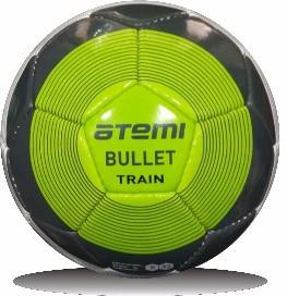 Мяч футбольный Atemi BULLET, PU, бел/сер/зел, р.5