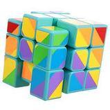 Кубик  зеркальный 3х3х3 Moyu Youngjun Inequilaterial радуга черн и син, фото 4