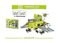 Детский гараж-паркинг Ферма/ паркинг полицейских/ паркинг строителей
