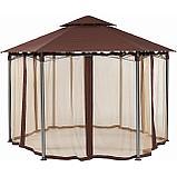 Садовый павильон 5угол Коричневый, фото 2