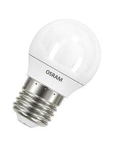 Лампа светодиодная LEDSCLP40 5,7W/827 230V FR E27 10*1RU OSRAM /4052899971646/