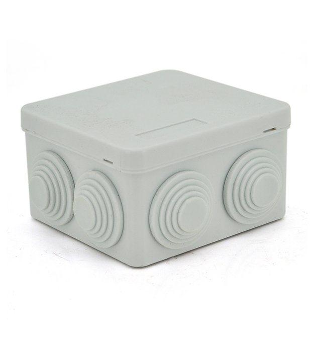 Распред.коробка квад.серый 85*85/45 IP65 EGP