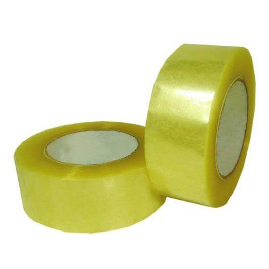 Скотч упаковочный 43mic*48mm*100M лимон (INT)