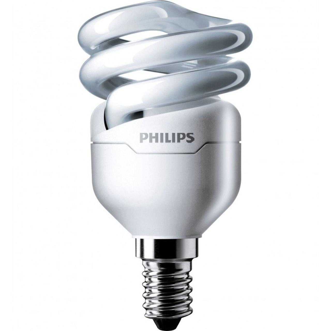 Лампа энергосберегающая Tornado spiral 8W 827 WW E14 Philips /871829111716200/