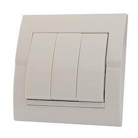 Выключатель тройной белый Deriy 702-0202-109