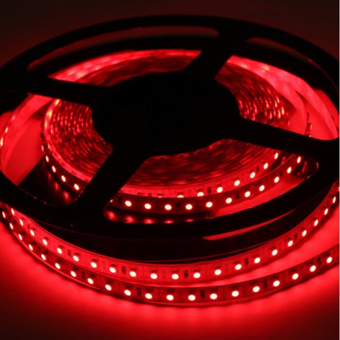 Лента LED S3528 60led/5м, IP65, красный