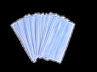 Маска медицинская на резинках,голубая, 3х слойная (2500 шт.)