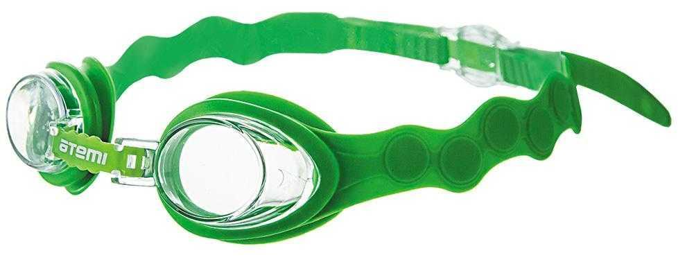 Очки для плавания Atemi, дет, силикон (салатовый), S403