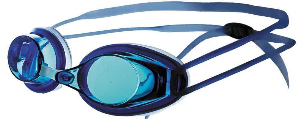 Очки для плавания Atemi, силикон (син), N401