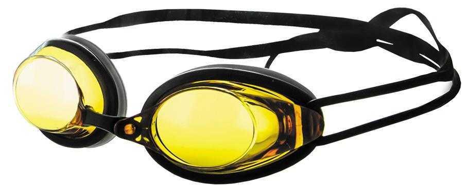 Очки для плавания Atemi, силикон (черн/янтарь), N402