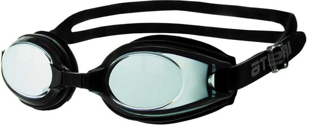 Очки для плавания Atemi, силикон (черн), M404