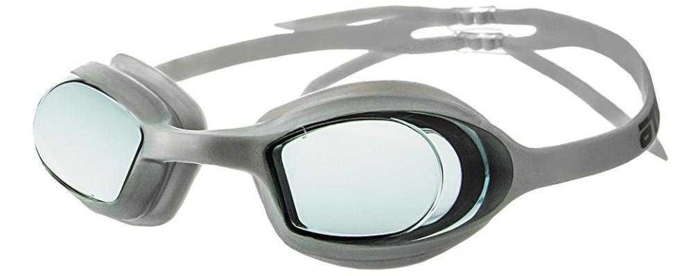 Очки для плавания Atemi, силикон (серебр), N8202