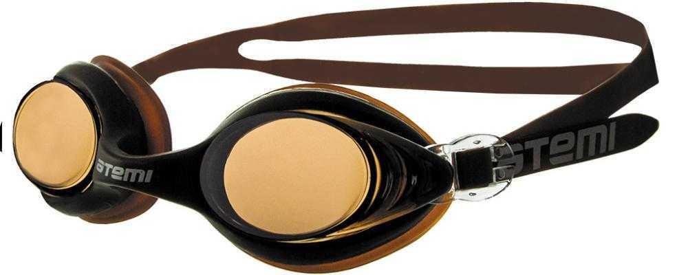 Очки для плавания Atemi, силикон (мол.шоколад), N7104
