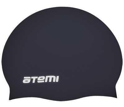 Шапочка для плавания Atemi, силикон (б/м), чёрная, RC303