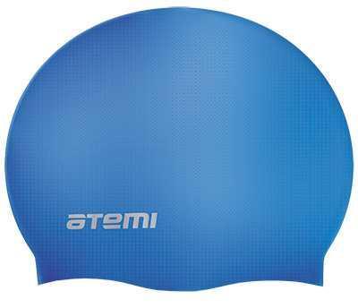 Шапочка для плавания Atemi, силикон (б/м), синяя, RC302