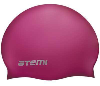 Шапочка для плавания Atemi, силикон, вишневая, SC304