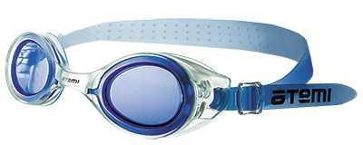 Очки для плавания Atemi, дет.силикон (бел/син), N7301