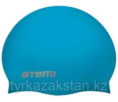 Шапочка для плавания Atemi, силикон (б/м), голубая, RC301