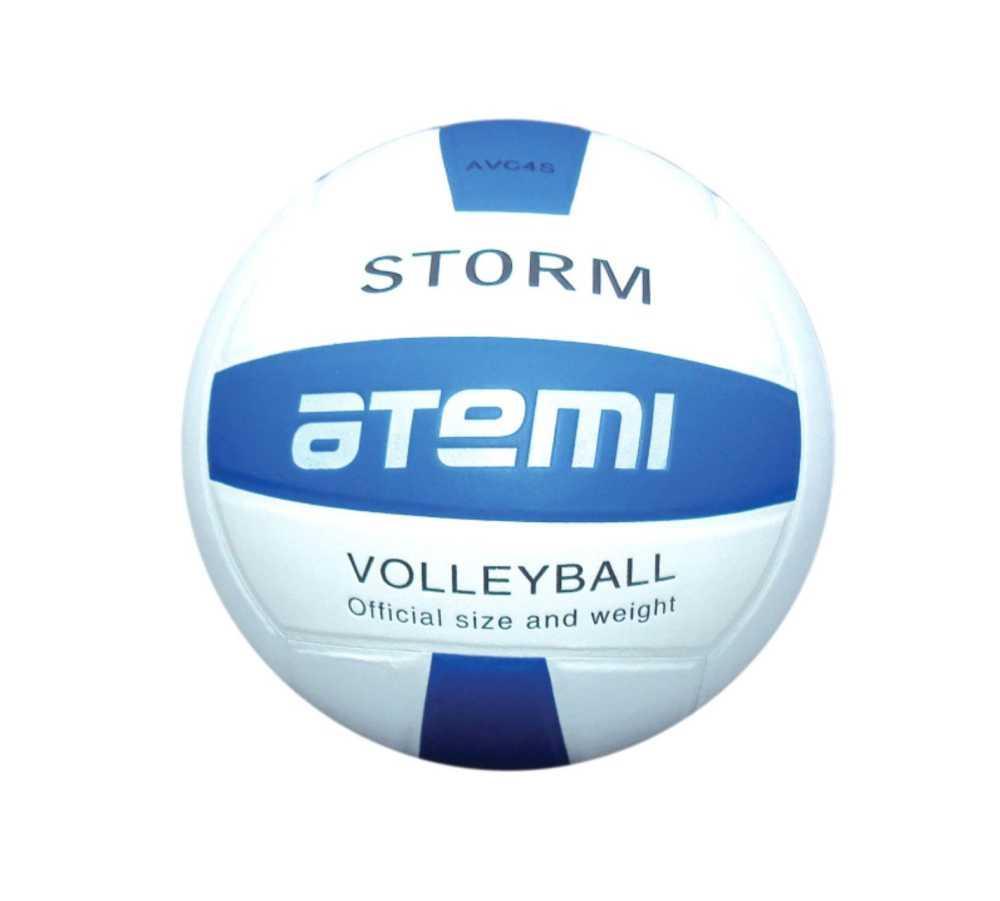 Мяч волейбольный Atemi STORM, синтетическая кожа PU, син.-бел.