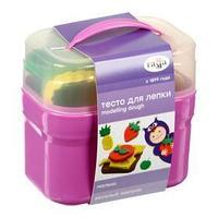 Тесто для лепки 'Гамма' 'Малыш. Веселый завтрак', 4 цвета х 60 г, 8 формочек, пластиковый кейс