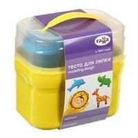 Тесто для лепки 'Гамма' 'Малыш. Зоопарк', 4 цвета х 60 г, 5 формочек, пластиковый кейс