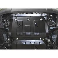 Защита радиатора АвтоБРОНЯ для Foton Tunland (V - 2.8d / 4WD) 2017-н.в., крепеж в комплекте, сталь, 2 мм, 111.04401.1