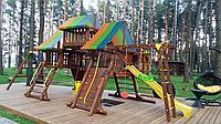 """Игровой комплекс """"Лагуна"""", крыша, рукоход, качели, столик с лавочками, чердак, фото 1"""