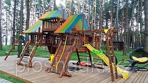 """Игровой комплекс """"Лагуна"""", крыша, рукоход, качели, столик с лавочками, чердак"""