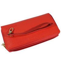 Кошелёк женский на молнии, 2 отдела для купюр, для кредитных карт, для монет,цвет красный