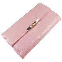 Кошелёк женский, 2 отдела для купюр, для монет, для кредитных карт, цвет розовый