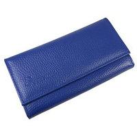 Портмоне женское, 3 отдела для купюр, для монет, для кредитных карт, цвет синий