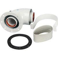 Элемент дымохода коаксиальный STOUT SCA-6010-240190, адаптер для котла угловой 90, DN60/100 24433