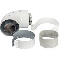 Элемент дымохода коаксиальный STOUT SCA-6010-230190, адаптер для котла угловой 90, 60/100