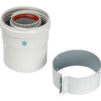 Элемент дымохода коаксиальный STOUT SCA-6010-230100, адаптер для котла вертикальный, 60/100 244335