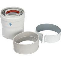 Элемент дымохода коаксиальный STOUT SCA-6010-210100, адаптер для котла вертикальный, 60/100 244334 (комплект
