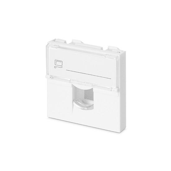 Shelbi Лицевая панель с прозрачной шторкой 45x45mm 1 порт