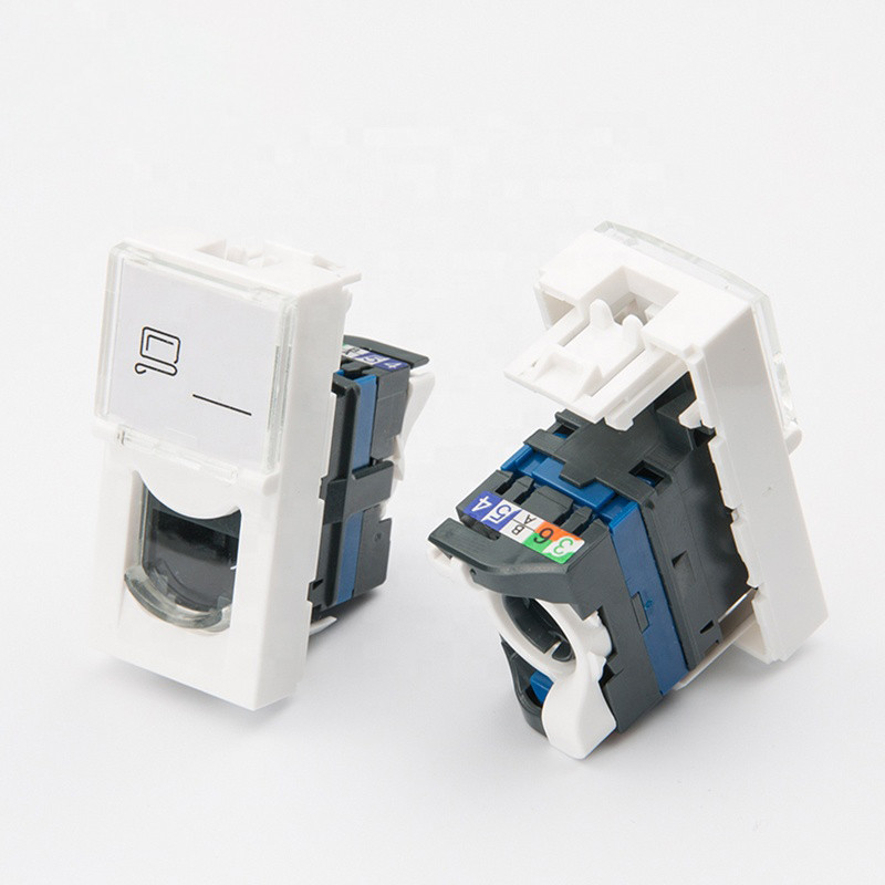 Shelbi Розеточный модуль Cat 6 UTP с лицевой панель со шторкой 45х22.5 mm