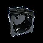 Shelbi Розетка одинарная 33° с з/к, 250 В, 16A 45х45, чёрная, фото 2