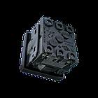 Shelbi Розетка одинарная 33° с з/к, 250 В, 16A 45х45, чёрная, фото 3