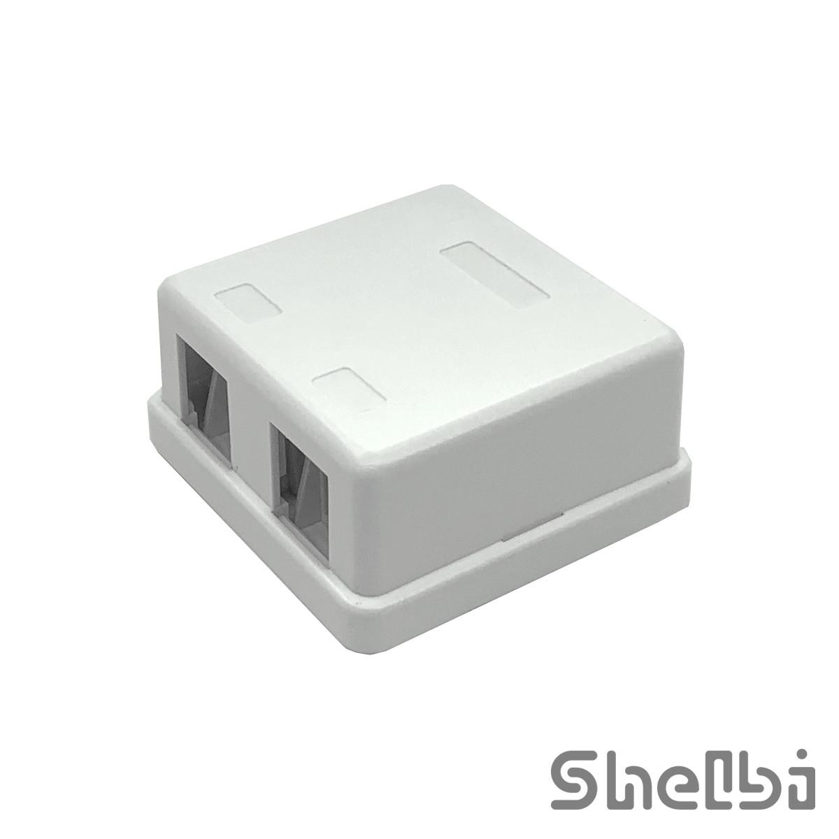 Shelbi Настенная пластиковая коробка 2-портовая, для модулей, Пустая