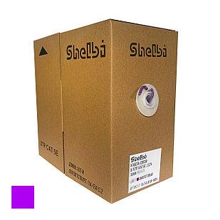 Shelbi Кабель UTP, КАТ.5E 4х2х24AWG solid, LSZH, 305м, фиолетовый