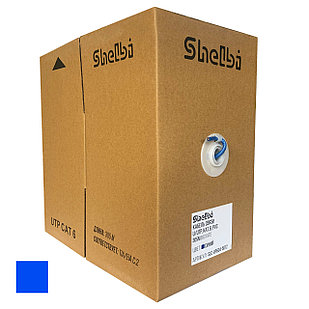 Shelbi Кабель UTP, КАТ.6 4х2х24AWG solid, PVC, 305м, синий