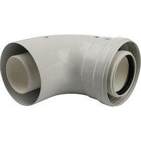 Элемент дымохода конденсационный STOUT SCA-8610-010090, угол 90, DN60/100