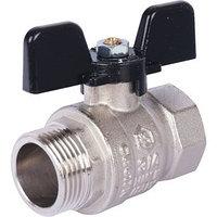 Кран шаровой STOUT, стандартнопроходной, ВР/НР 1/2', ручка бабочка, SVB-0014-000015 (комплект из 15 шт.)