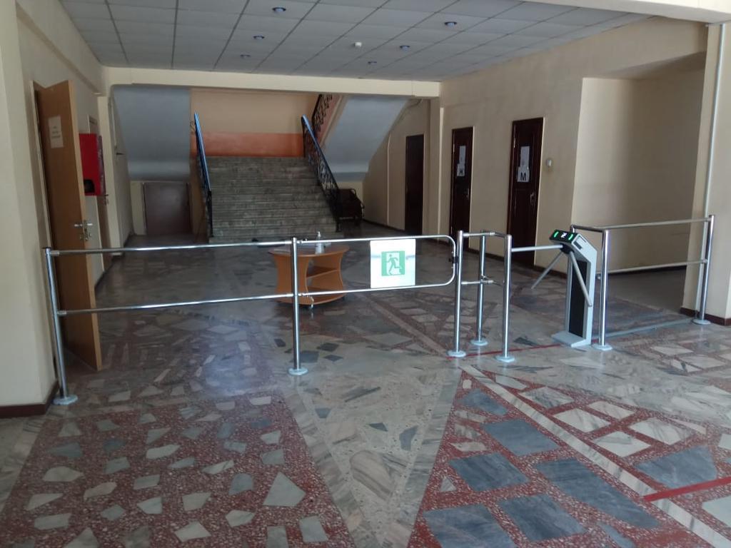 Установка калитки и турникета на объект Бетонный завод Женис города Алматы