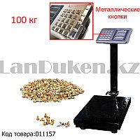 Электронные торговые весы напольные с металлическими кнопками 100 кг Senym