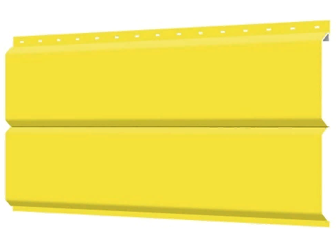 Металлосайдинг 240 мм RAL 1018 глянец  Europanel Цена 740 тенге при заказе свыше 50 п.м