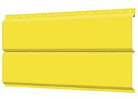 Металлосайдинг 240 мм RAL 1018 глянец  Europanel Цена 740 тенге при заказе свыше 50 п.м, фото 1
